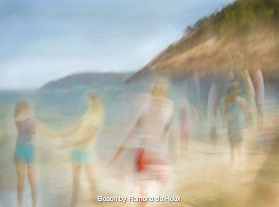 """""""Beach"""" by Ramona du Houx brings us into the world of enjoying summer holidays at the seaside."""