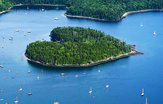 Maine's very own heart shaped island- Harbor Island in Bucks Harbor
