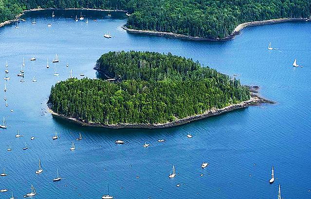 Maine's very own heart shaped island- Harbor Island in Bucks Harbor