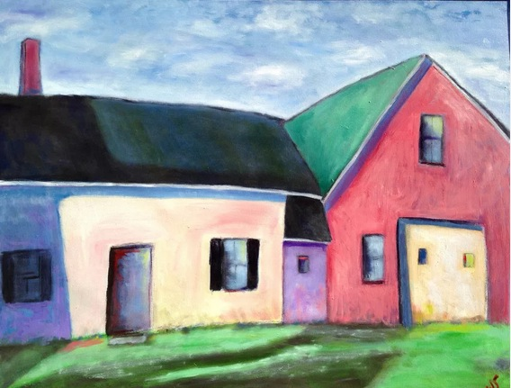 """""""Back House, Barn"""" by Walter Smalling"""
