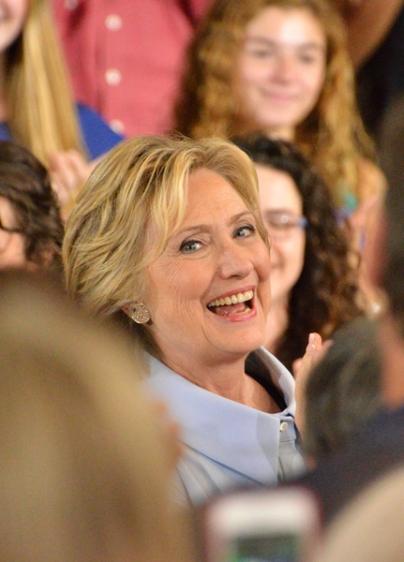 Portland, Maine welcomes Hillary Clinton. Photo by Ramona du Houx